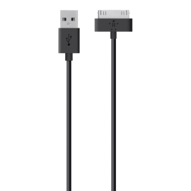 Belkin Charge + Sync Cable black Apple 30 Pin      F8J043bt04-BLK