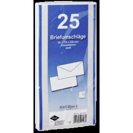 1x25 Envelopes DIN LANG self-adhesive white