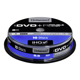 1x10 Intenso DVD+R 8,5GB 8x Speed, Double Layer printable