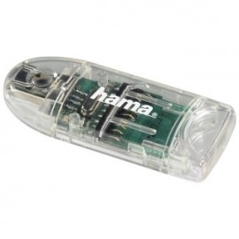 Hama USB 2.0 Card Reader 8in1 SD/microSD transparent 91092