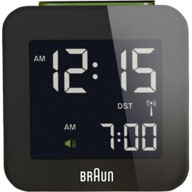 Braun BNC 008 Radio Controlled Travel Alarm Clock black