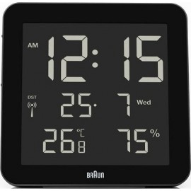 Braun BNC 014 black Global Radio Controlled Digital Wall Clock