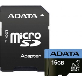 ADATA microSDHC UHS-I Class 10 16GB Premier with Adapter A1