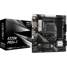 Asrock A320M Pro4-F Socket AM4 micro ATX AMD A320