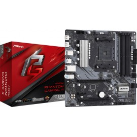 Asrock A520M Phantom Gaming 4 AMD A520 Socket AM4 micro ATX