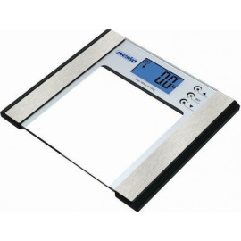 Adler MS 8146 personal scale Electronic personal scale Square Silver,Transparent