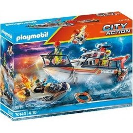 Playmobil City Action 70140 Fire Rescue with Personal Watercraft