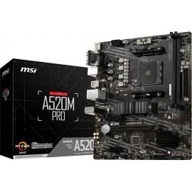 AM4 MSI B550M PRO mATX (M.2 Port, PCIe 3.0 x 4, NVMe PCI:2 PCIe:1 RAM:2)