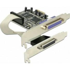 DeLock Κάρτα PCIe σε 2 θύρες DB25 Parallel