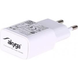 Akyga USB Wall Adapter Λευκό (AK-CH-11)
